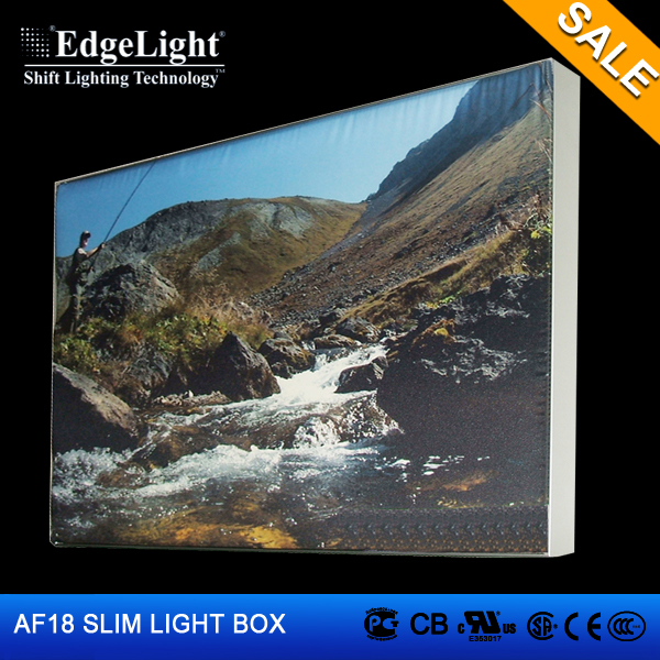 Edgelight AF18 Aluminum frame fabric hot sexi photo girls advertising led light box