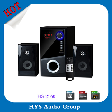 China professional 2.1 home theater with usb fm usb