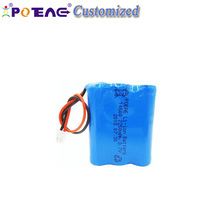 14500 3.7v 2250mah rechargeable cylinder lithium ion battery pack