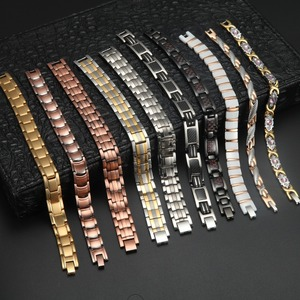 RainSo $100 Jewelry Category Stainless Steel Copper Ceramic Ceramic Magnetic Bracelet