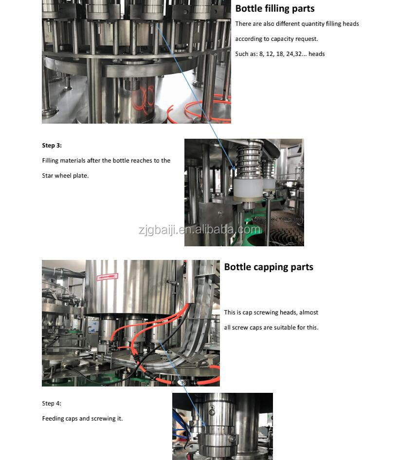 Complete 3 in 1 rotary pure bottle drinking water filling machine production line plant