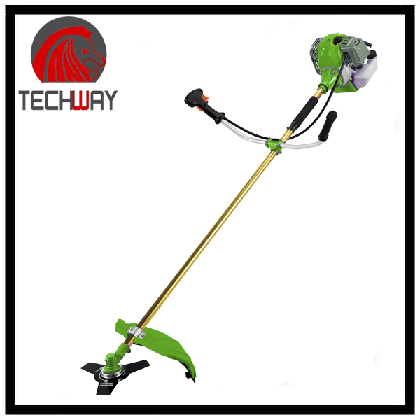 side-attached hand grass cutter petrol 43CC mechanical grass cutter