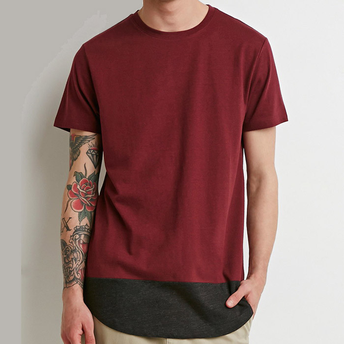 Classic youth plain mens extra long t shirts