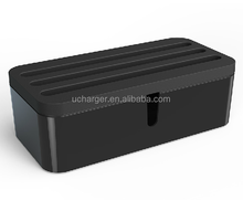 Cable management box Organizer - Scratch Resistant, Perfect for Hiding Small Power Strips, HDMI and USB Cords, Electronics