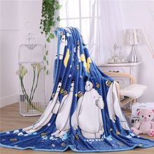 Kids Cute Bayma Blanket Fashion Winter Thick Fleece Blanket/Cartoon Warm Sleeping Quilt Travel Blanket