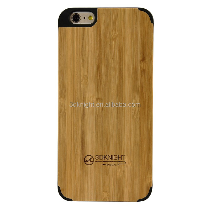 Elegant slim bamboo case hard wood cover for iPhone 6 Plus