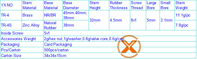 Brass TR4 tube valves / tube tire valve / motorcycle tire valve