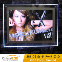 Acrylic Photo Frame LED Crystal Light Box Frameless LED Crystal Light Frame