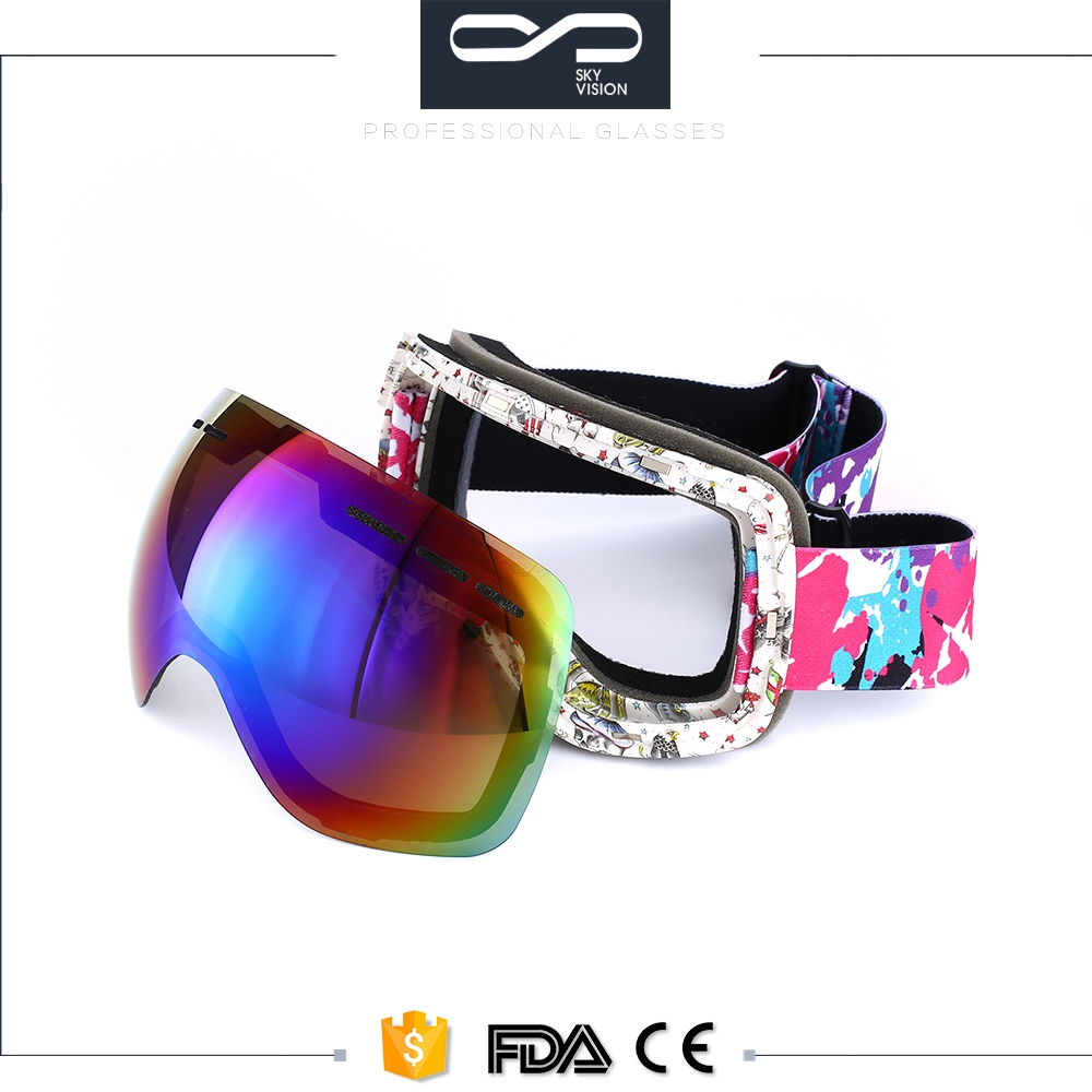 Customized outdoor sports windproof dustproof eye glasses ski snowboard goggles