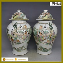 China antique ceramic decorative jar large chinese ginger jar with picture of beauty
