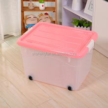 2017 new Heavy-duty plastic storage box with wheels