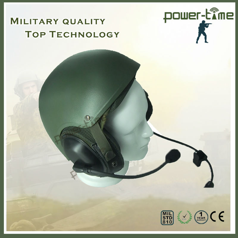 Military dynamic microphone earphone with helmet for Joint Tactical Radio System PTE-746
