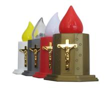 modern design flickering led cemetery grave candle