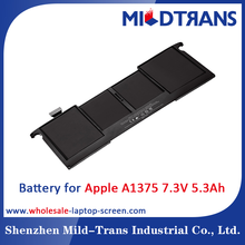 Laptop spare parts replacement battery for APPLE A1375 7.3v 5.3ah