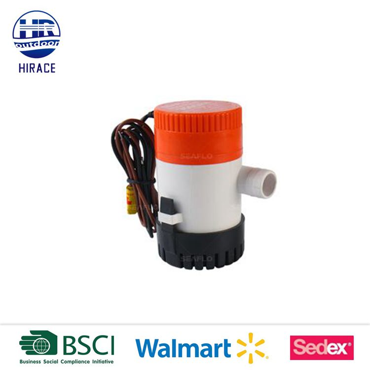 Silent and vibrationless operation Easy clean bilge pump for boat