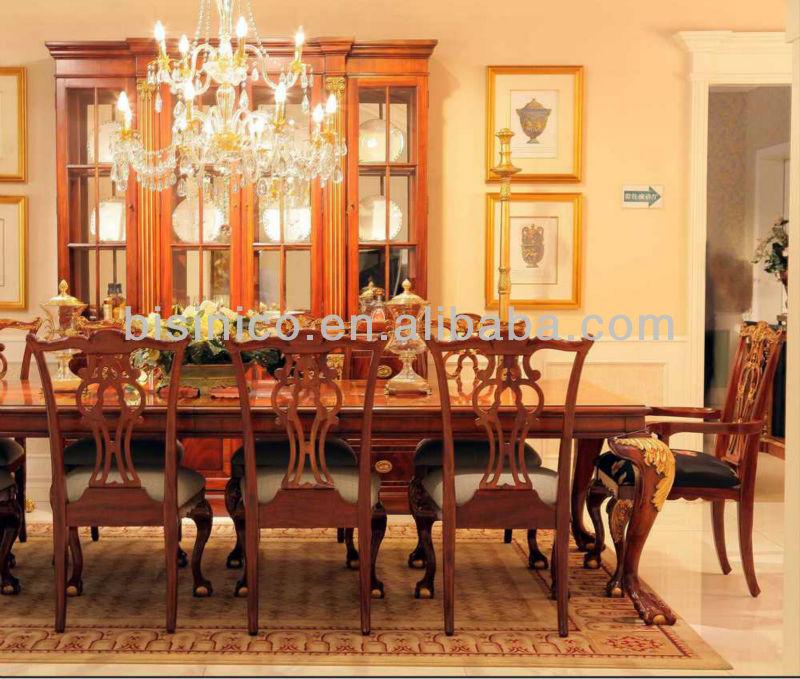 english royal style dining room set,antique dining furniture set