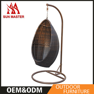 Outdoor Rattan Wicker Swing Hanging Egg Chair For Adult