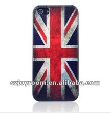 New design Retro National Flag Case for iPhone 5. UK flag case. OEM plastic with all flags