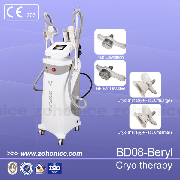 BD08 china poplular new hot sale cheap effective portable best professional home use 2 handles cryo therapy fat freezing