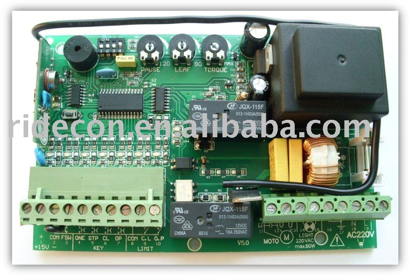Sliding gate control board, sliding gate control logic board