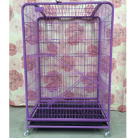 Strong Big Stainless Steel Pet Cage Pink Purple on Sale