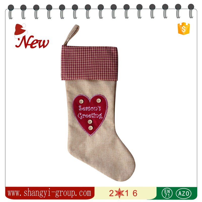 XM10-33ABCDE Christmas stocking decoration hanging fabric christmas socks