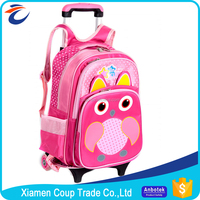 New Design Wholesale Good Materials 600D Polyester Kids Trolley Bag Sizes For School Students