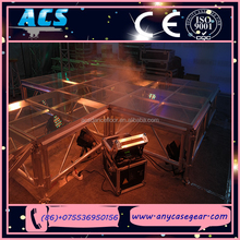 ACS indoor hall glass stage wedding decoration