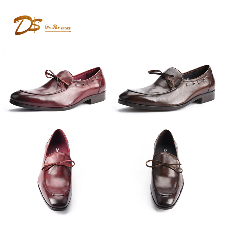 High quality long duration time custom wholesale leather men loafer dress shoes