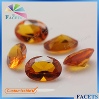 Facets Gems Synthetic Corundum Rough Oval Cut 55# Corundum Yellow Sapphire Price
