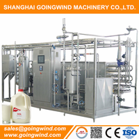 Automatic industrial milk pasteurizer machine auto milk ice cream juice pasteurizing machinery cheap price for sale