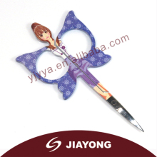 2014 fashion design purple butterfly cuticle scissors
