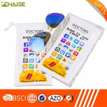 Heat transfer printing microfiber glass/sunglass/eyeglass bag