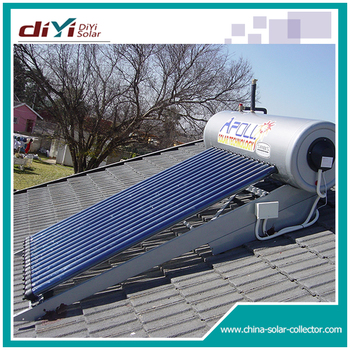 For cold climate area solar hot water heater system