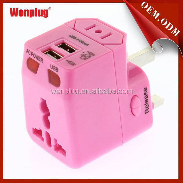 2015 Hot sell electric plug adapter us to australian