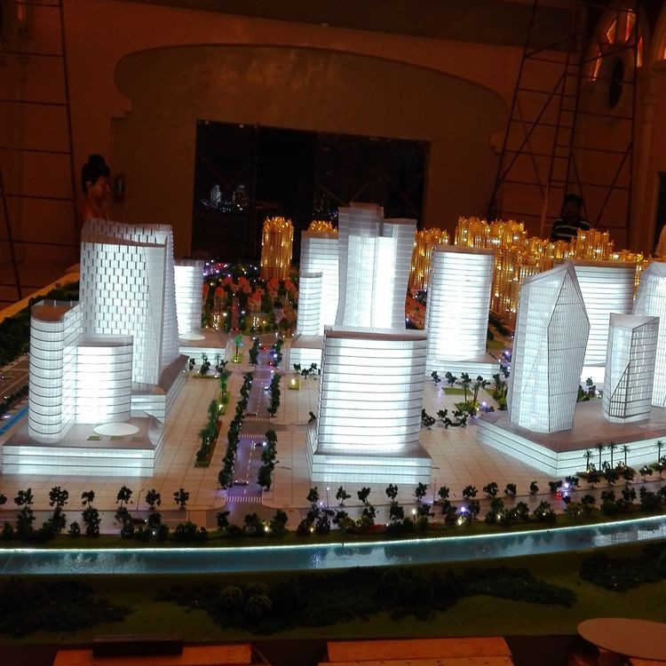 miniature architecture models plastic building