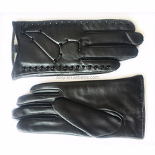 Custom Design Ladies Winter Sheepskin Leather Women Gloves