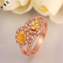 Factory direct supply wholesale jewelry rose gold colored cz gemstone beautiful wedding finger ring for girls