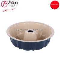 101183/101184 ceramic coated bundt cake pan with FDA/LFGB/DGCCRF certificates