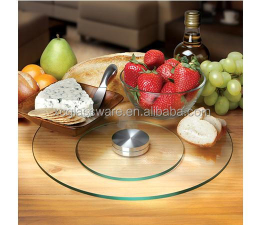 2014 new style rotating tempered glass lazy susan