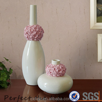 Factory custom elegant white flower ceramic vase