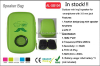 Promotional speaker gift speaker bag,usb mini speaker