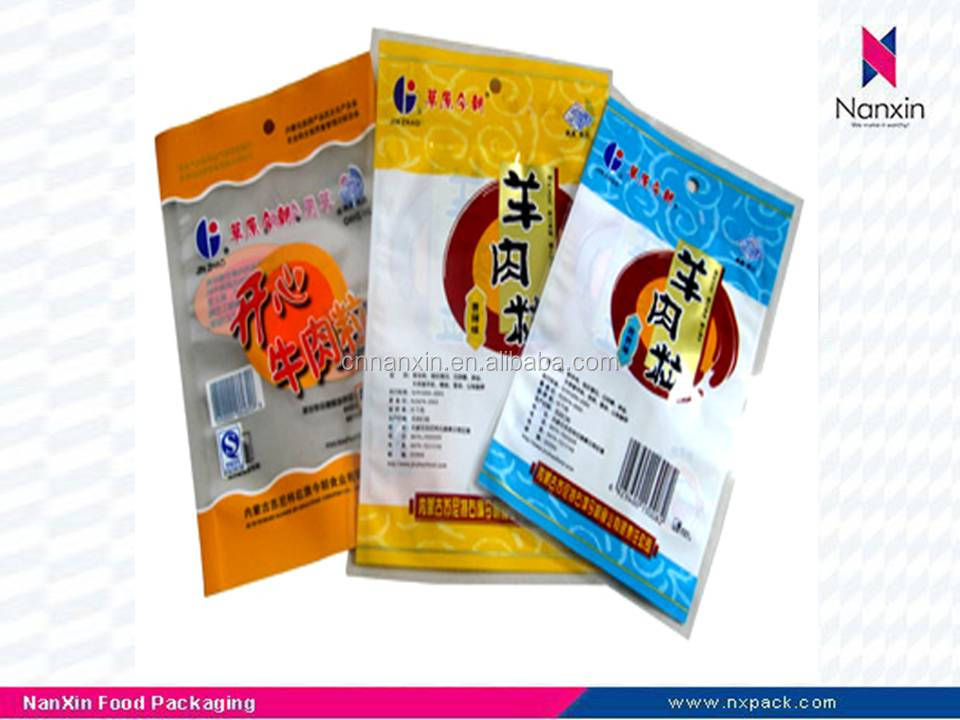 plastic food bag packaging with window