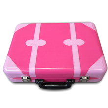 Custom Decorative Handle Cosmetic Packing Tin Box
