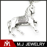 mens horse stainless steel pendant ,fashion wholesale jewelry