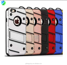 New design factory price kickstand style TPU+PC shockproof cell phone back cover for iphone 7 case for iphone 6 case