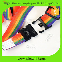 nylon adjustable personalized luggage strap belt with ID card
