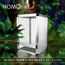 Nomo factory wholesale middle size aluminum alloy reptile cage for chameleon