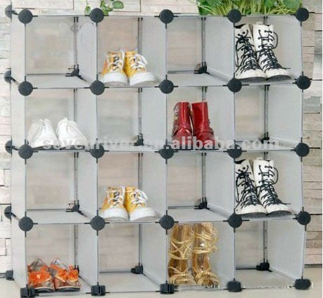 Supply interlocking modular magic plastic grid cube storage