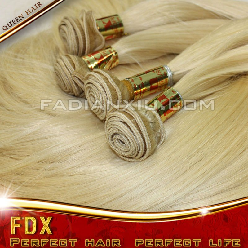 5A wholesales european hair blonde human hair #613 weave